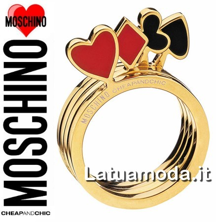 moschino cheap and chic anello