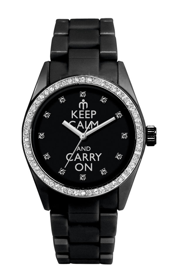 latuamoda orologio nero watch keep calm and carry on
